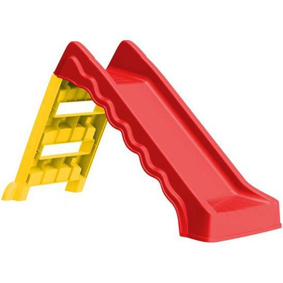 Faltbare Rutsche für Kinder Indoor Outdoor Rot und Gelb