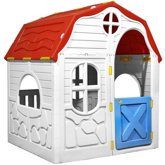 Faltbares Kinderspielhaus mit Schließbarer Tür und Fenstern