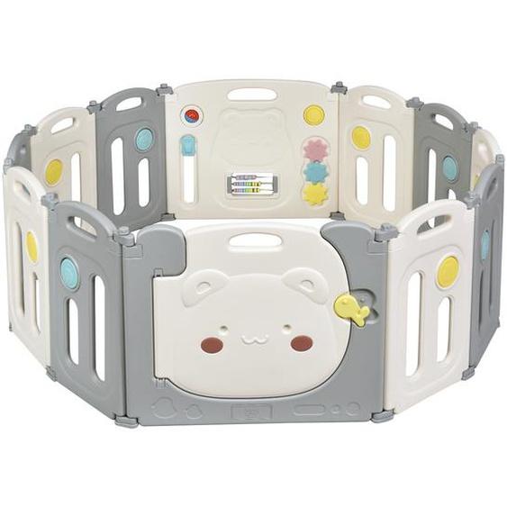 Faltbares Laufgitter mit 12 Panels Baby Laufstall tragbarer Spiellzaun