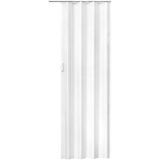 Falttür 203 x 80 cm - weiß