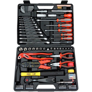 FAMEX Werkzeugset 144-FX-48, (Set, 168 St.), im Werkzeugkoffer 31,5 x 41 9 cm schwarz Werkzeug Maschinen
