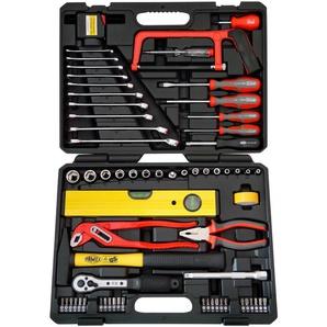 FAMEX Werkzeugset 145-FX-55, (Set, 67 St.), im Werkzeugkoffer 32 x 41 8,5 cm schwarz Werkzeug Maschinen