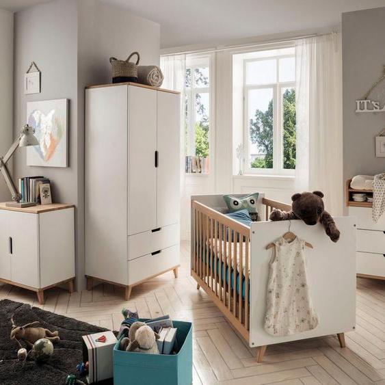 Fantasykids Babyzimmer-Komplettset, (4-St., Bett + Wickelkommode + 2-trg. Schrank + Kommode)
