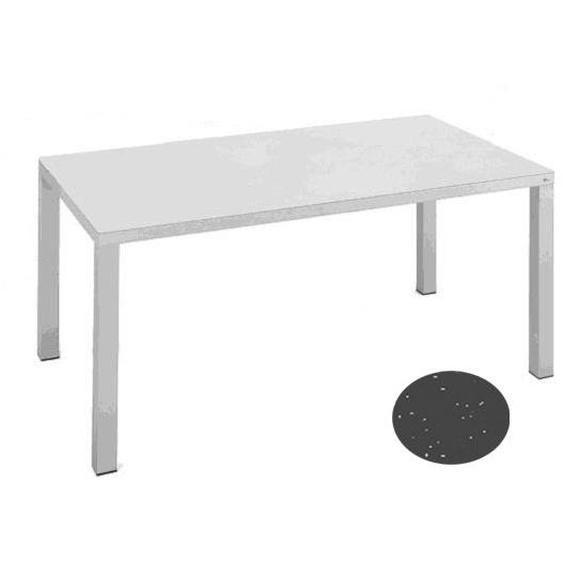 Fast by Weishäupl - Easy Tisch - 90 x 90 cm - grau-metallic - outdoor
