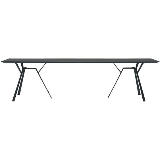 Fast by Weishäupl - Radice Quadra Tisch - rechteckig - 290 x 90 - grau-metallic - outdoor
