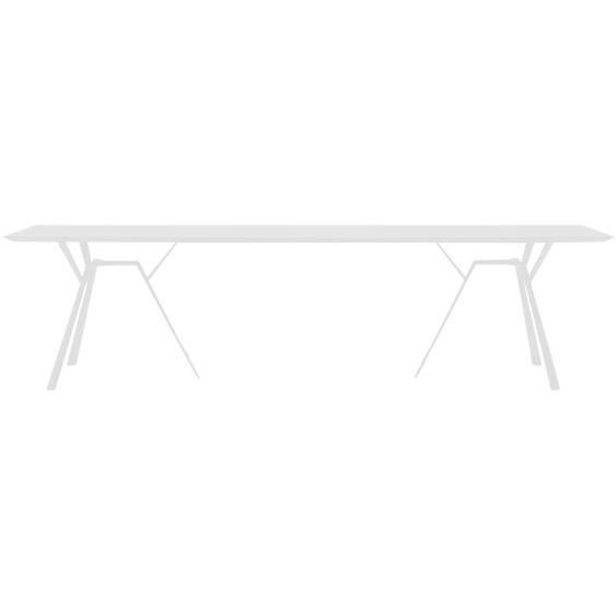 Fast by Weishäupl - Radice Quadra Tisch - rechteckig - 290 x 90 - lichtgrau - outdoor