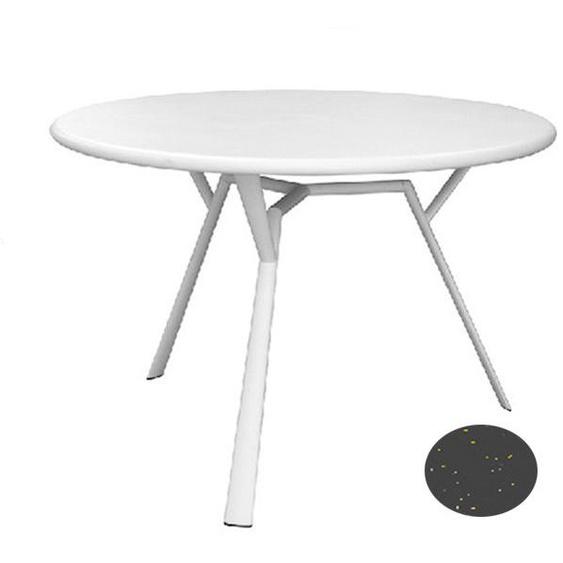 Fast by Weishäupl - Radice Quadra Tisch - rund - grau-metallic - outdoor