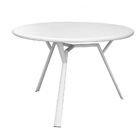 Fast by Weishäupl - Radice Quadra Tisch - rund - weiß - outdoor