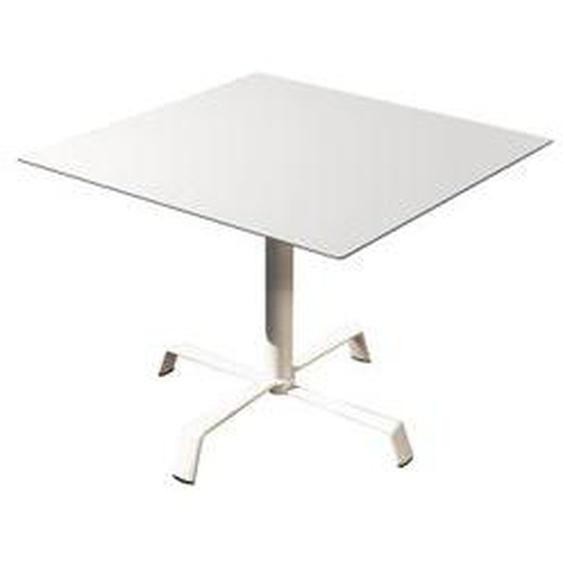 Fast - Tonik Tisch 70 x 70 cm, Gestell Elica, weiß