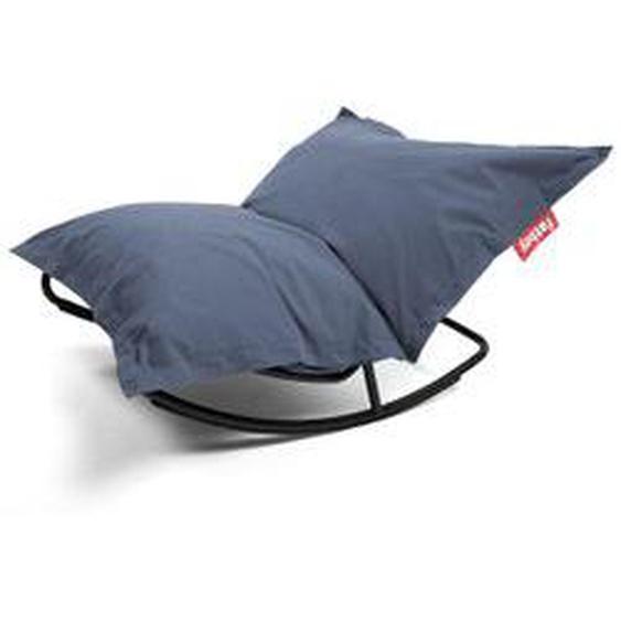 Fatboy - Rock n Roll Lounge Chair mit Original Sitzsack, stonewashed blue (Kombi-Deal)