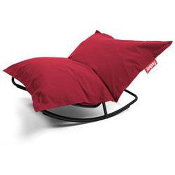 Fatboy - Rock n Roll Lounge Chair mit Original Sitzsack, stonewashed red (Kombi-Deal)
