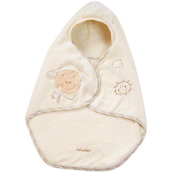 Fehn Einschlagdecke »Schaf«, kuschelige Babydecke mit Gurtschlitz