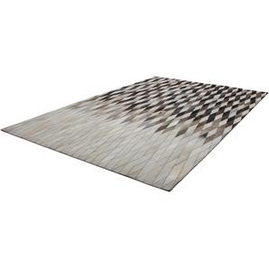 Fellteppich »Lavish 510«, Kayoom, rechteckig, Höhe 8 mm, Patchwork-echtes Leder-Fell, Wohnzimmer