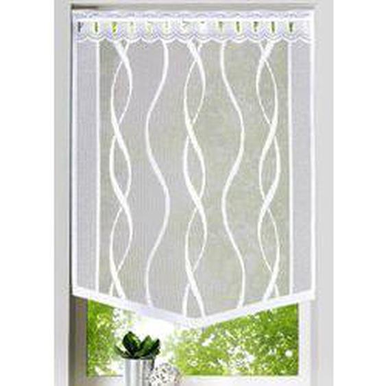 Fenster- und Türbehang Welle, Größe 315 (Fensterbehang H 80xB60 cm), Weiss