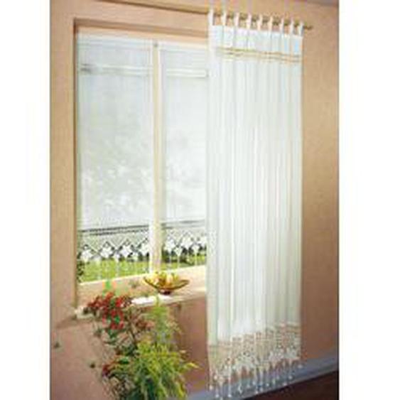 Fensterdekoration in verschiedenen Farben, Größe 818 (Scheiben-Gardine, H45xB35 cm), Weiss