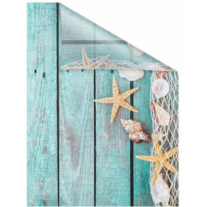 Fensterfolie »Bretter Beach«, LICHTBLICK, blickdicht, strukturiert, selbstklebend, Sichtschutz