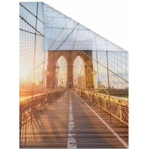 Fensterfolie »Brooklyn Bridge«, LICHTBLICK, blickdicht, strukturiert, selbstklebend, Sichtschutz