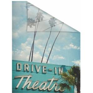 Fensterfolie »Drive In«, LICHTBLICK, blickdicht, strukturiert, selbstklebend, Sichtschutz