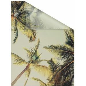 Fensterfolie »Palmen und Sonne«, LICHTBLICK, blickdicht, strukturiert, selbstklebend, Sichtschutz