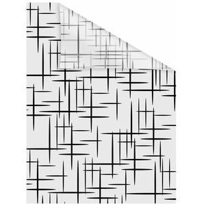 Fensterfolie »Stars Schwarz«, LICHTBLICK, blickdicht, strukturiert, selbstklebend, Sichtschutz