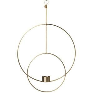 ferm LIVING - Hängendes Teelicht - kreisförmig - Messing - indoor