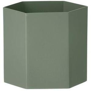 ferm LIVING - Hexagon Pot - Dusty Green - L