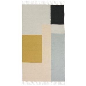 ferm LIVING - Kelim Teppich - S - squares - indoor