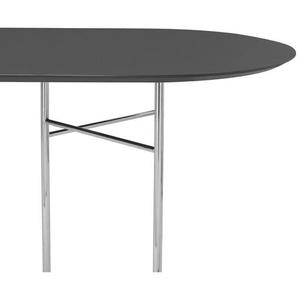 ferm LIVING - Mingle Tischplatte oval - schwarz - 220 cm
