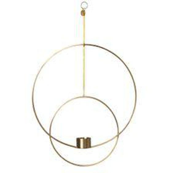 ferm LIVING - Teelichthalter zum Aufhängen, rund / Messing