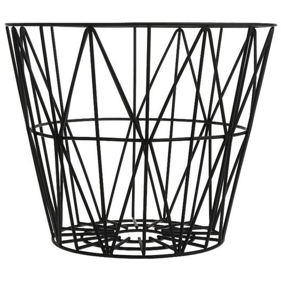 ferm LIVING - Wire Basket Korb - L - schwarz - indoor