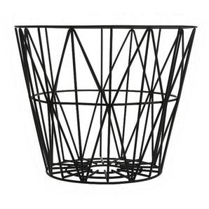 ferm LIVING - Wire Basket Korb - M - schwarz - indoor