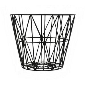 ferm LIVING - Wire Basket Korb - S - schwarz - indoor