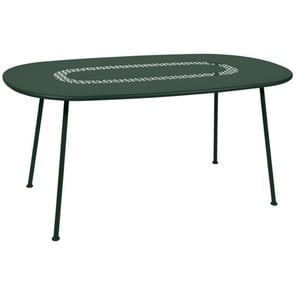 Fermob - Lorette Tisch oval - Zederngrün 02 - outdoor