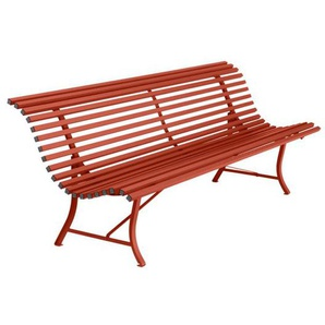 Fermob Louisiane 4-Sitzerbank 200cm Stahl Chili