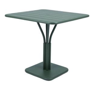 Fermob - LUXEMBOURG Tisch mit Säulenfuß - 02 Zederngrün matt - outdoor