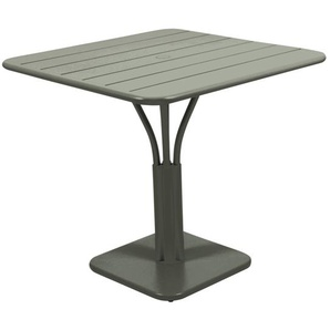 Fermob - LUXEMBOURG Tisch mit Säulenfuß - 48 Rosmarin matt - outdoor