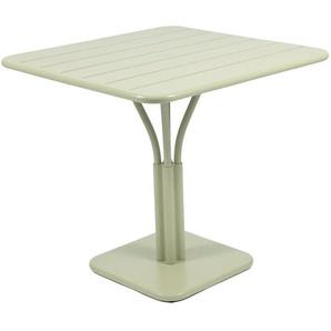 Fermob - LUXEMBOURG Tisch mit Säulenfuß - 65 Lindgrün matt - outdoor