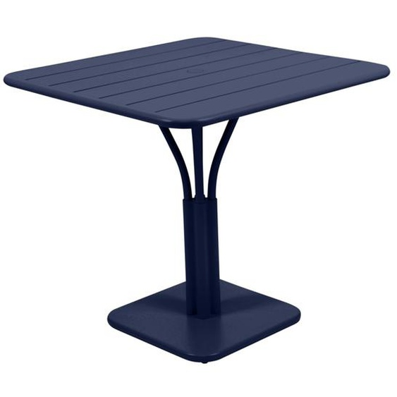 Fermob - LUXEMBOURG Tisch mit Säulenfuß - 92 abyssblau - outdoor