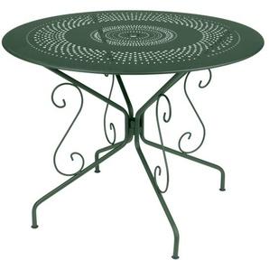 Fermob - MONTMARTRE Tisch Ø 96 cm - 02 Zederngrün - outdoor