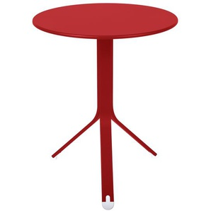 Fermob - Rest´O Tisch rund - 67 Mohnrot - outdoor