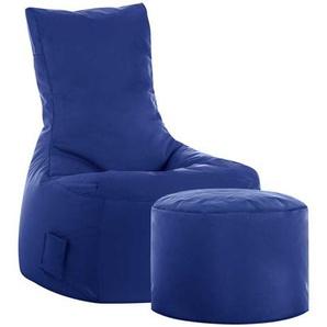 Fernseh Sitzsack in Blau Fu�hocker