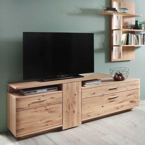 Fernsehboard aus Eiche Bianco geölt 210 cm breit
