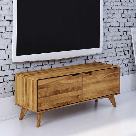 Fernsehboard aus Wildeiche Massivholz 120 cm breit