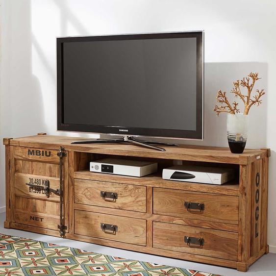 Fernseher Schrank aus Sheesham Massivholz 65 cm hoch