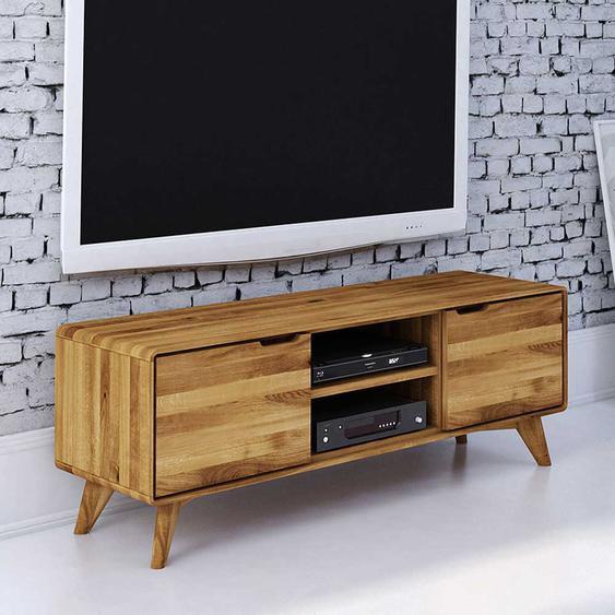 Fernsehmöbel aus Wildeiche Massivholz Türen