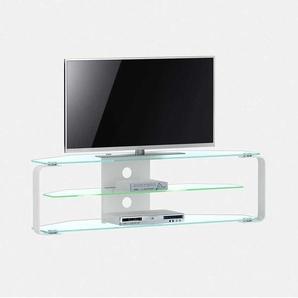 Fernsehtisch aus Glas mit LED Beleuchtung