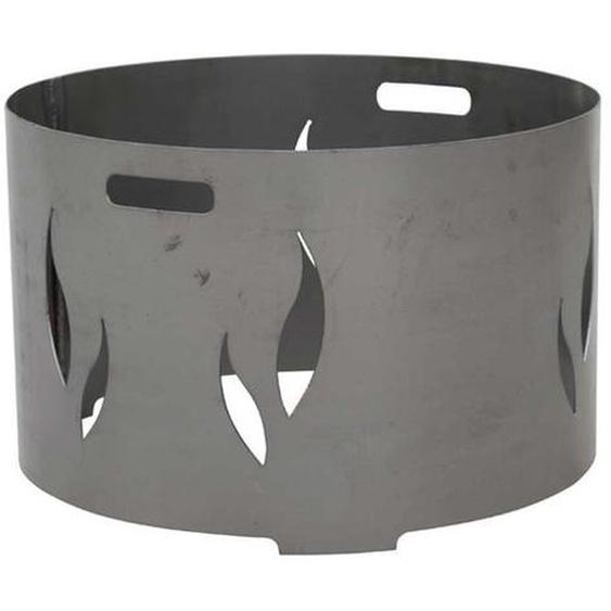 Feuerschalenaufsatz, Stahl silber/anthrazit, passend zu der Feuerschale XXL Ø55cm, mit eingraviertem Muster