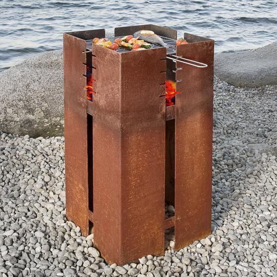 Feuerstelle aus Edelstahl