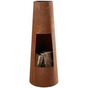 Feuerstelle , Rost , Metall , konisch , 100 cm , Campingzubehör, Feuerschalen & Feuerkörbe