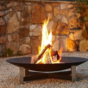Feuerstelle Sunset Weber Metallgestaltung grau, Designer Katrin & Norbert Weber, 18 cm